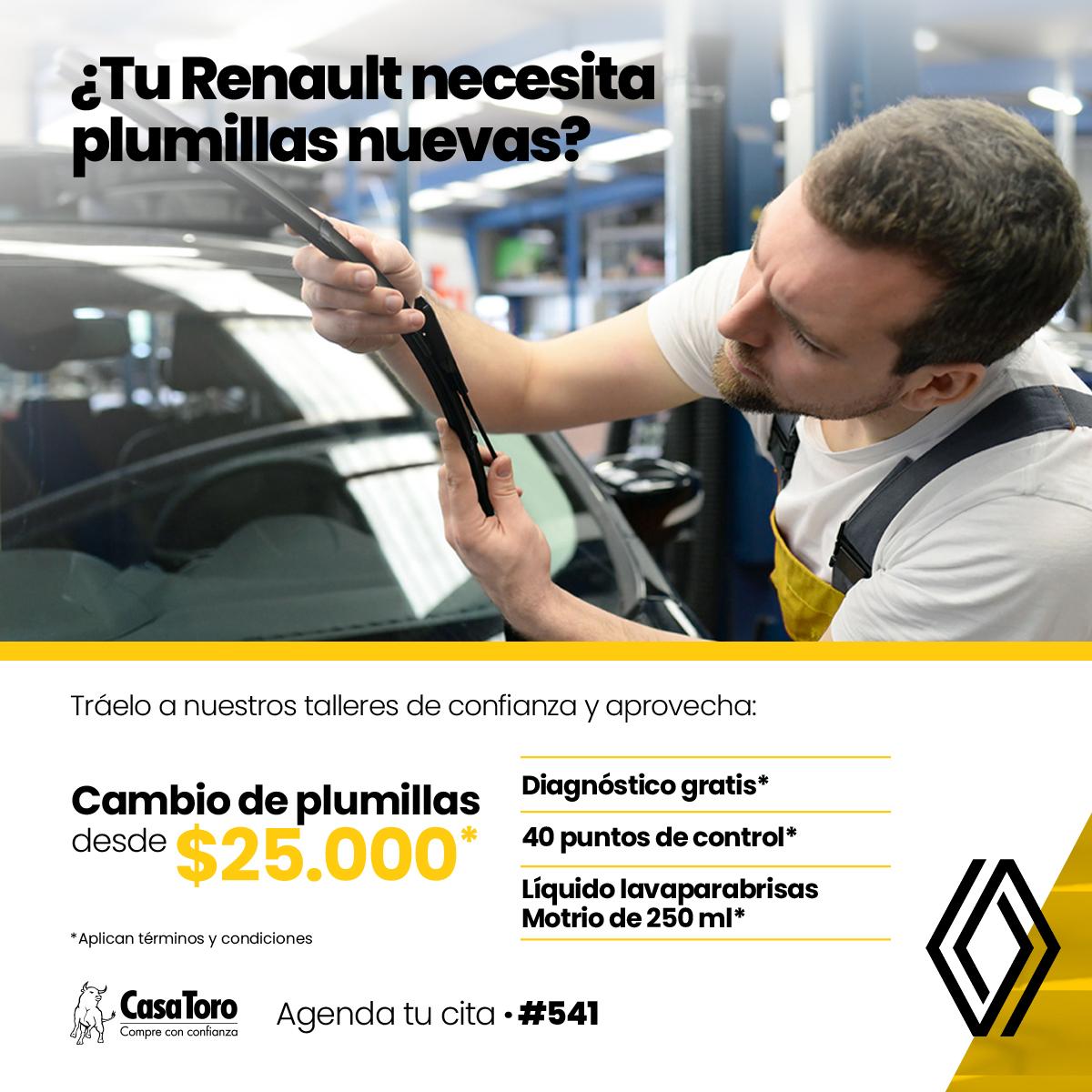 Cambio de Plumillas   Taller CasaToro Renault