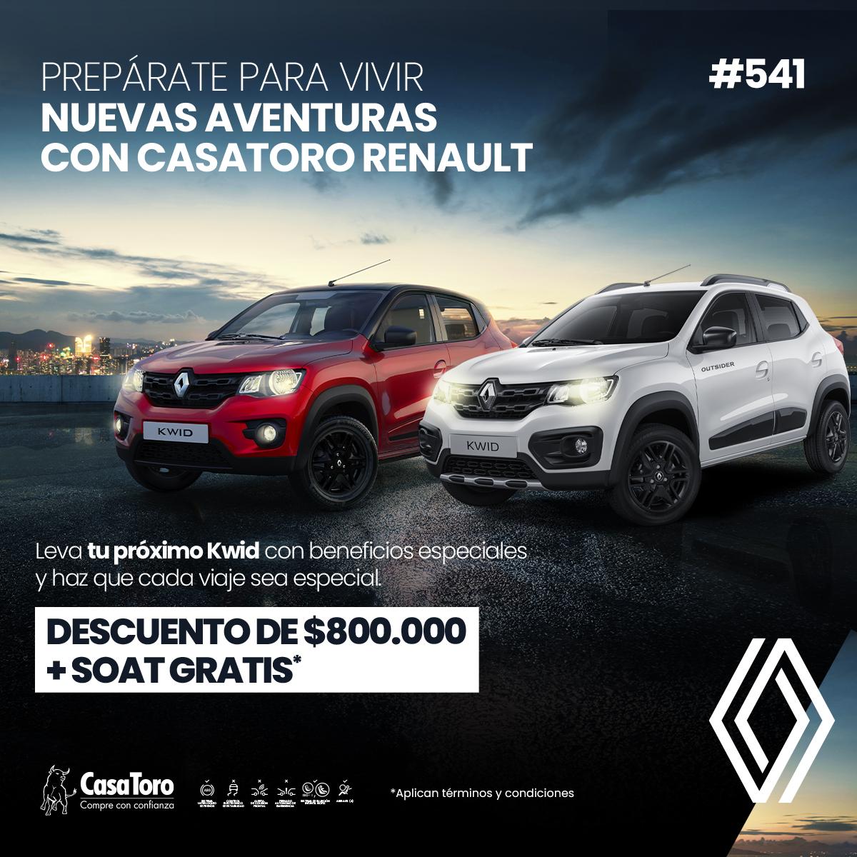 Llego el Kwid en CasaToro Renault Bogotá