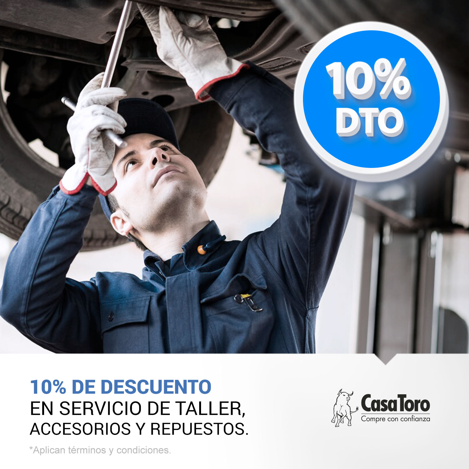 Beneficios exclusivos en talleres CasaToro.