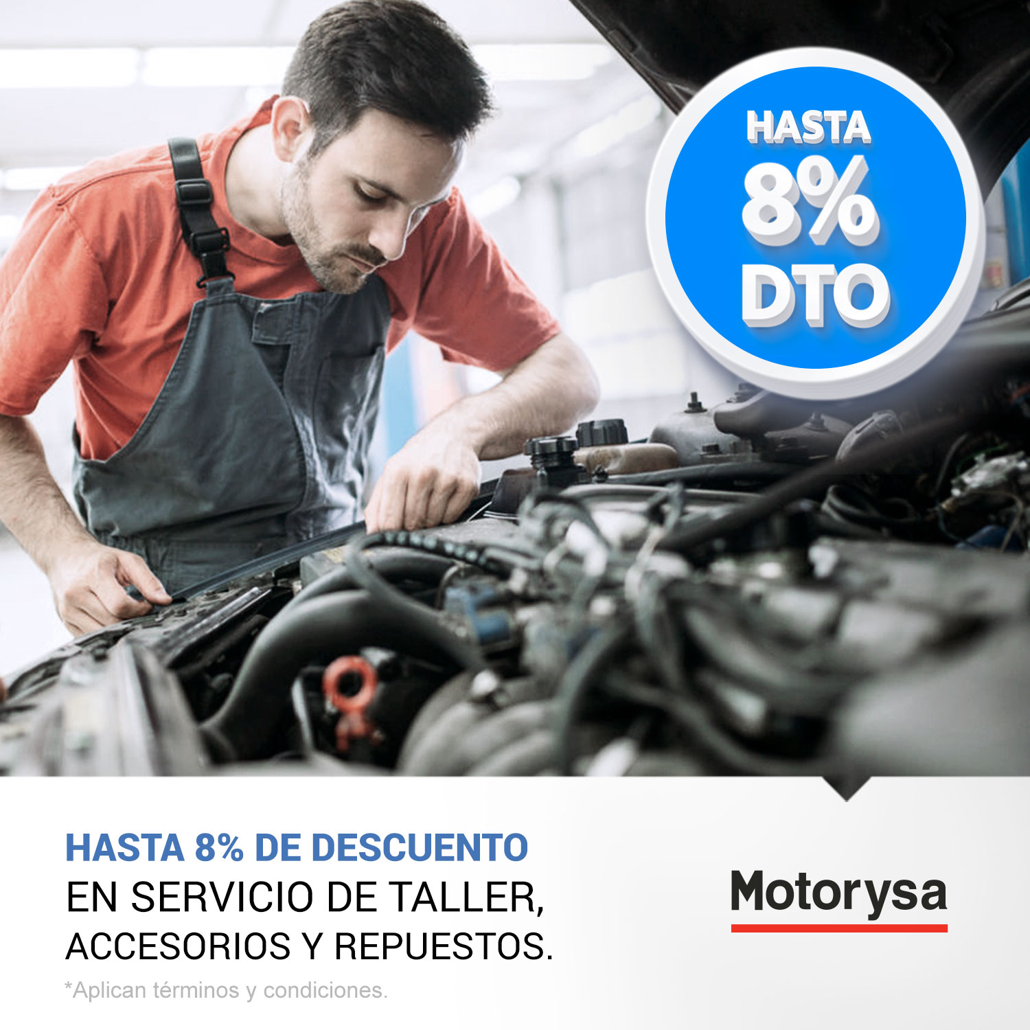 Beneficios exclusivos en talleres Motorysa