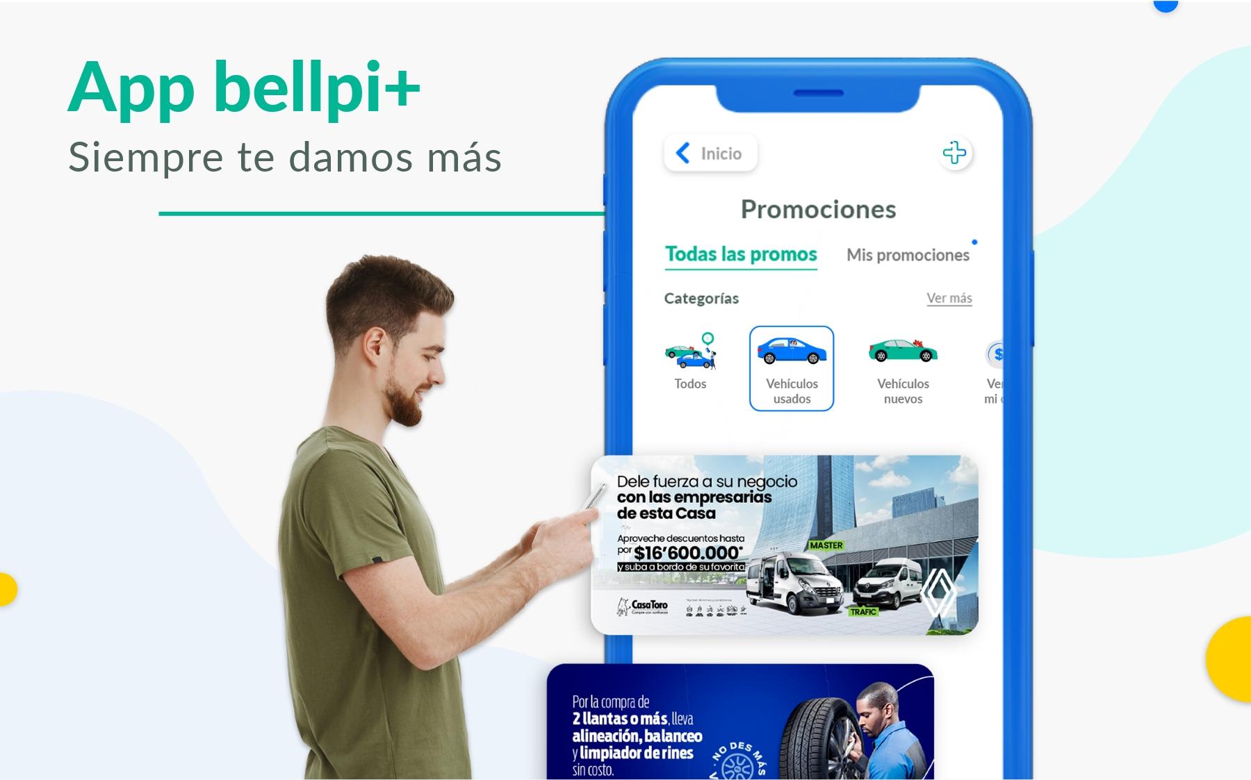 Beneficios de la app bellpi+